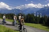 Trottibiken, Wandern und Wildbeobachtungen auf dem Niederhorn