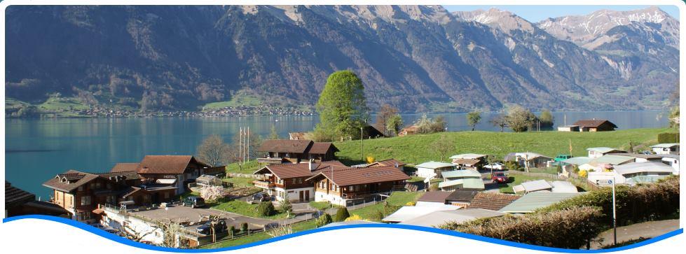 Reserieren Sie noch heute auf dem Camping Du Lac in Iseltwald am Brienzersee bei Interlaken!